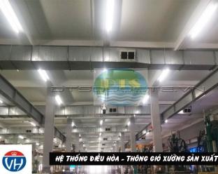 Hệ thống điều hòa - thông gió xưởng sản xuất
